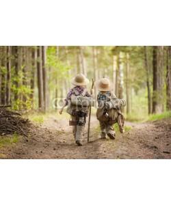 Alexandr Vasilyev, Boys on a forest road with backpacks