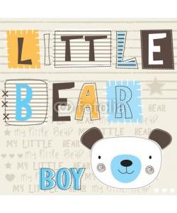 yoliana, cute little bear head vector illustration