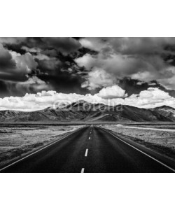 f9photos, Road on plains in Himalayas with mountains