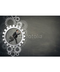 Coloures-pic, Businessman running in Wheel