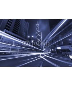leeyiutung, Night Traffic in Hong Kong