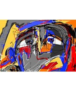 Kara-Kotsya, abstract digital painting of human face