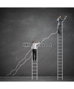 alphaspirit, Business people raise the statistics