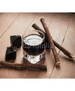Antonio Gravante, Licorice liqueur with pure blocks and roots.