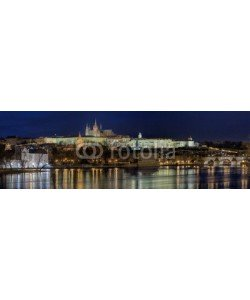 Blickfang, Karlsbrücke Prag beleuchtet Panorama
