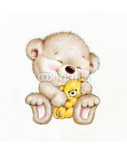 ciumac, Teddy bear with baby bear