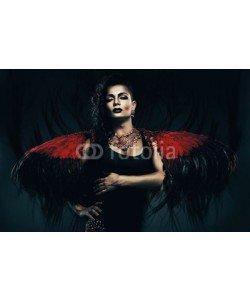 alexbutscom, angel transvestite in red wings