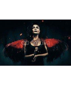 alexbutscom, dark angel transvestite with red wings