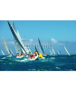 Alvov, Sailing yachts regatta. Series yachts and ships
