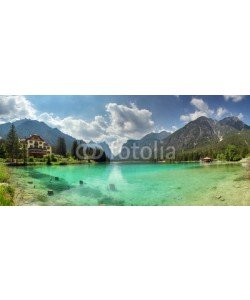 TTstudio, Panorama of Lake dobbiaco, Dolomites mountain
