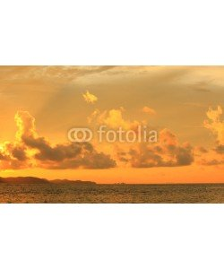 alexzeer, Sunset on blue sky.blue sky clouds,Blue sky with clouds.