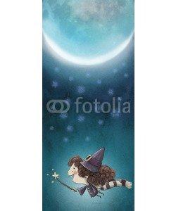 cirodelia, bruja volando de noche