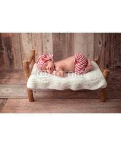 katrinaelena, Newborn Baby Boy Sleeping on a Tiny Bed