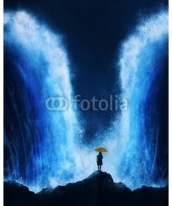kevron2001, Woman with splitting ocean