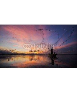 anekoho, Fisherman of Bangpra Lake