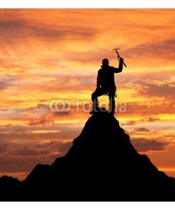 Daniel Prudek, man on mountains with ice axe in hand