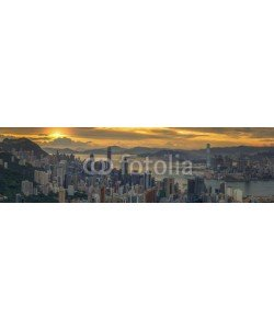 anekoho, Sunrise over Hong kong and Kowloon city