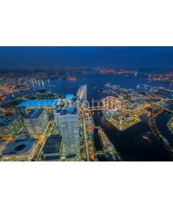 anekoho, Yokohama, Japan waterfront cityscape