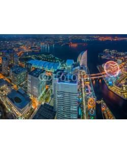anekoho, Yokohama, Japan waterfront cityscape.