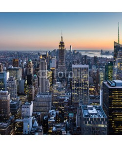 kasto, New York City Manhattan downtown skyline.