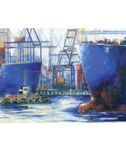 Helma Wolff, Blaue Stunde im Hafen II