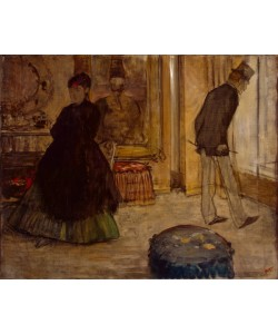 Edgar Degas, Interior with Two Figures, 1869 (oil on canvas)