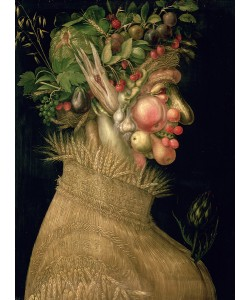 Giuseppe Arcimboldo, Summer, 1563, (oil on canvas)