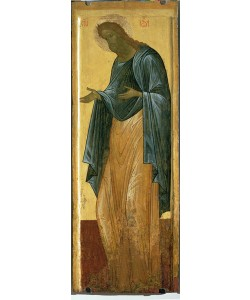 Andrei Rublev, St. John the Forerunner, from the Deisis tier of the Dormition Cathedral in Vladimir (tempera on panel)