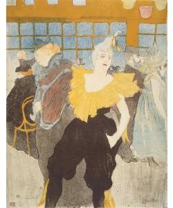 Henri de Toulouse-Lautrec, The Clownesse in the Moulin Rouge, 1897 (colour litho)