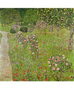 Digitaldruck, Gustav Klimt, Orchard with roses (Obstgarten mit Rosen)