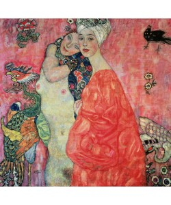 Gustav Klimt, The Girlfriends, 1916-17 (oil on canvas) (destroyed in 1945)