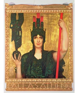 Franz von Stuck, Pallas Athena, 1898 (panel)