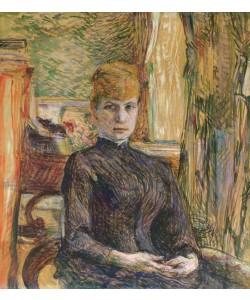 Henri de Toulouse-Lautrec, Madame Juliette Pascal, 1887 (oil on canvas)