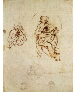 Leonardo da Vinci, Study for the Virgin and Child, c.1478-1480 (ink and pencil on paper)