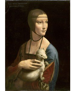 Leonardo da Vinci, The Lady with the Ermine (Cecilia Gallerani), 1496 (oil on walnut panel)