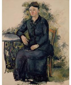 Paul Cézanne, Madame Cezanne in the Garden, 1880-82 (oil on canvas)