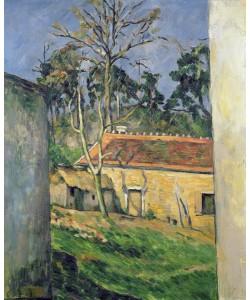Paul Cézanne, Farmyard at Auvers, c.1879-80 (oil on canvas)