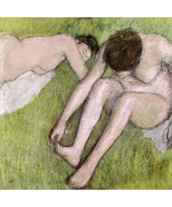 Edgar Degas, Two Bathers on the Grass, c.1886-90 (pastel on paper)