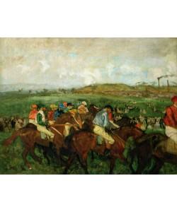 Edgar Degas, Gentlemen race. Before the Departure, 1862 (oil on canvas)