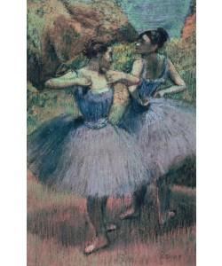 Edgar Degas, Dancers in Violet (pastel on paper)