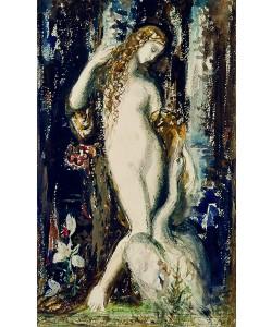 Gustave Moreau, Leda (w/c on paper)