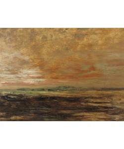 Gustave Moreau, Landscape (oil on panel)