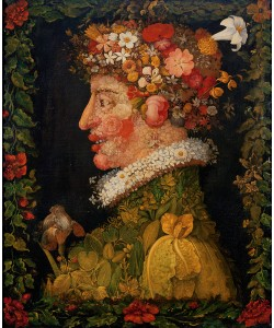 Giuseppe Arcimboldo, Spring, from a series depicting the four seasons, 1573 (oil on canvas)