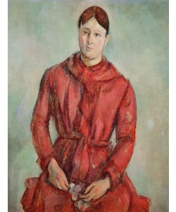 Paul Cézanne, Portrait of Madame Cezanne in a Red Dress, c.1890 (oil on canvas)