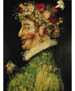 Giuseppe Arcimboldo, Spring, (oil on canvas)