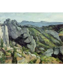 Paul Cézanne, Rocks at L'Estaque, 1879-82 (oil on canvas)