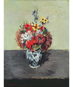Paul Cézanne, Flowers in a Delft vase, c.1873-75 (oil on canvas)
