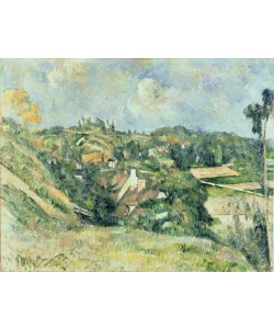 Paul Cézanne, Houses in Valhermeil seen in the direction of Auvers-sur-Oise, 1882 (oil on canvas)
