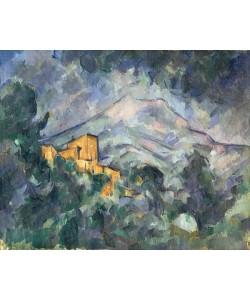 Paul Cézanne, Montagne Sainte-Victoire and the Black Chateau, 1904-06 (oil on canvas)