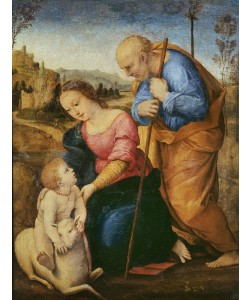 Raphael, The Holy Family with a Lamb (oil on wood)